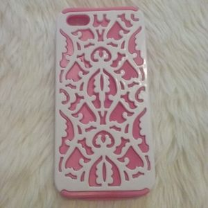 Pink and White iPhone 5s case